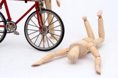 Accidente de la colisión de la bicicleta y de la persona imagen de archivo libre de regalías