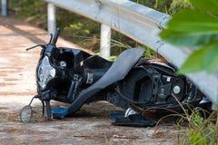 Accidente de la motocicleta Fotografía de archivo libre de regalías