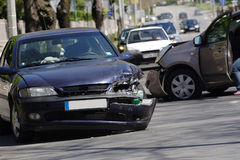 Accidente de tráfico Fotos de archivo