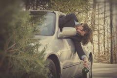 Accidente de tráfico de conducción borracho imágenes de archivo libres de regalías