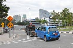 Accidente de tráfico Kuala Lumpur Malaysia imágenes de archivo libres de regalías