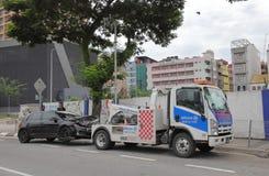 Accidente de tráfico Kuala Lumpur Malaysia fotos de archivo libres de regalías
