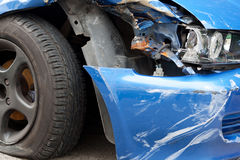 Accidente de tráfico Imágenes de archivo libres de regalías