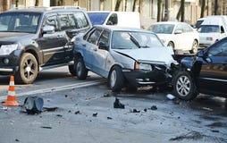 Accidente de tráfico Fotos de archivo libres de regalías