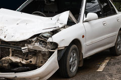 Accidente del choque de coche Fotos de archivo libres de regalías