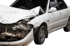 Accidente del choque de coche Imagen de archivo libre de regalías