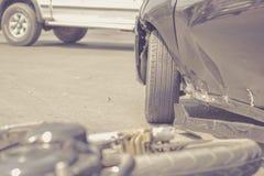 Accidente del choque de coche Fotos de archivo