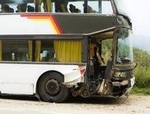 Accidente del omnibus imagen de archivo