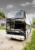 Accidente del omnibus Foto de archivo libre de regalías