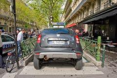 Accidente en el metro de París imagenes de archivo