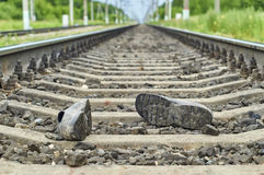 Accidente en ferrocarril Foto de archivo