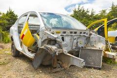 Accidented samochód Zdjęcie Stock