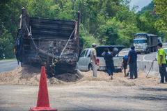 Accidentes de carretera Fotos de archivo libres de regalías