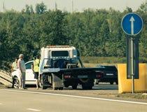 Accidentes de carretera Fotografía de archivo libre de regalías