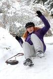 Accidentes en caminos helados Foto de archivo libre de regalías