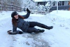 Accidentes en caminos helados Imagen de archivo