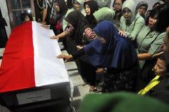 Accidents d'avion militaires en Indonésie tuant 135 Photographie stock
