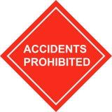 Accidents de plaquette de sécurité Images libres de droits