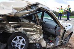 Accidents de voiture en Israël Photographie stock libre de droits