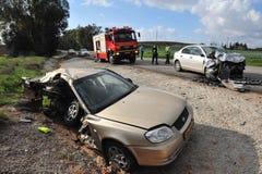 Accidents de voiture en Israël Photo stock