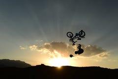 Accidents et problèmes de bicyclette Image libre de droits