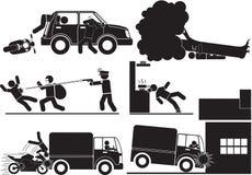 Accidents et vol Image libre de droits