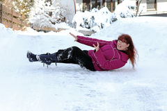Accidents in icy roads. Winter - Accidents in icy roads Royalty Free Stock Photography