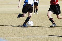 Acción 4. del fútbol. Foto de archivo libre de regalías