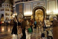 Acción Angel Wings en la catedral de Cristo el salvador Imágenes de archivo libres de regalías