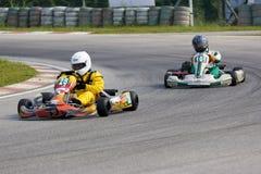 Acción de Karting Imágenes de archivo libres de regalías