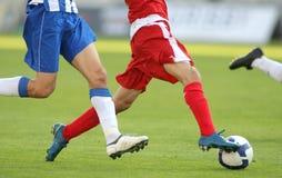 Acción del fútbol Imágenes de archivo libres de regalías