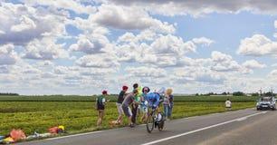 Acción del Tour de France Fotografía de archivo libre de regalías