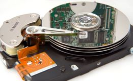 Accionamiento de disco con la reflexión electrónica Imágenes de archivo libres de regalías
