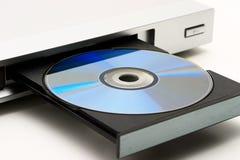 Accionamiento de disco en reproductor de DVD Fotografía de archivo