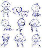 Acciones del bebé Imagen de archivo