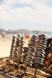 Acciughe arrostite cucinate in un modo spagnolo Immagine Stock Libera da Diritti