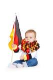 Acclamations de bébé pour l'équipe de football allemande Photos libres de droits