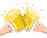 Acclamations de bière Photos stock