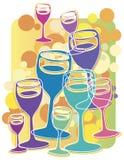 Acclamations de Champagne illustration de vecteur