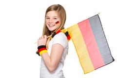 Acclamations de fille pour l'équipe de football allemande Photo libre de droits