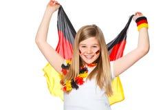 Acclamations de fille pour l'équipe de football allemande Photos libres de droits