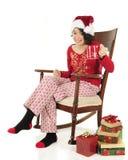 Acclamations de Noël avec du chocolat chaud photographie stock