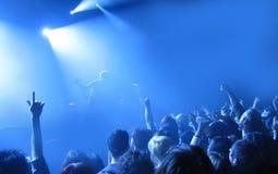 Acclamazioni di concerto Fotografia Stock Libera da Diritti