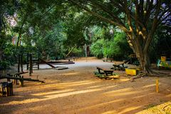Acclimatization park in sao paulo brazil Children`s play royalty free stock image