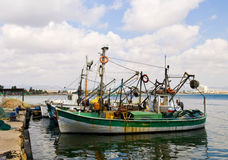 Acco. Fishermen's boats in the historic city of Acco in north Israel Royalty Free Stock Photography