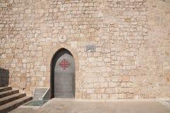 Acco (Acre, Akko). Church door in old city of Akko Royalty Free Stock Photography