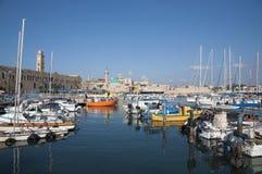Acco (Acre, Akko). Acre marina, the old city of Akko Royalty Free Stock Photos