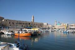 Acco (Acre, Akko). Acre marina, the old city of Akko Stock Photo