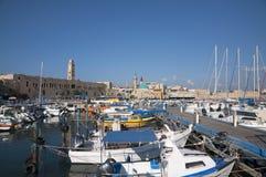 Acco (Acre, Akko). Acre marina, the old city of Akko Stock Image