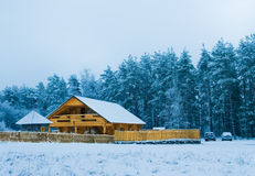 Accogliente poca casa di legno Fotografia Stock Libera da Diritti
